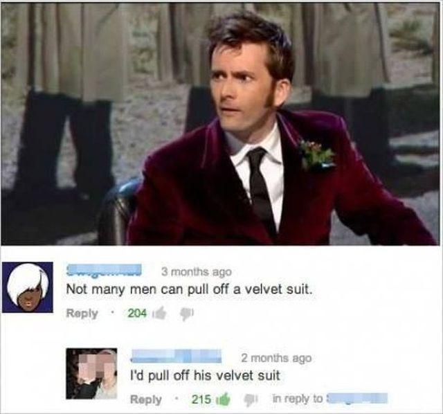 Dr. Who velvet suit