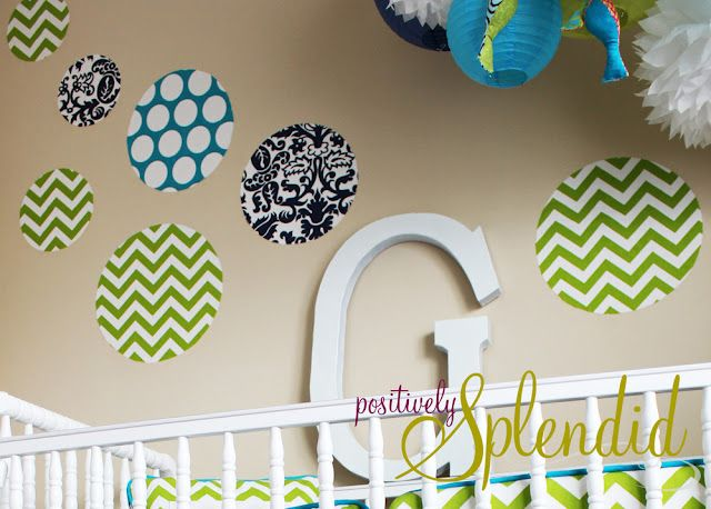 Positively Splendid {Crafts, Sewing, Recipes and Home Decor}: Custom Fabric Wall Decal Tutorial