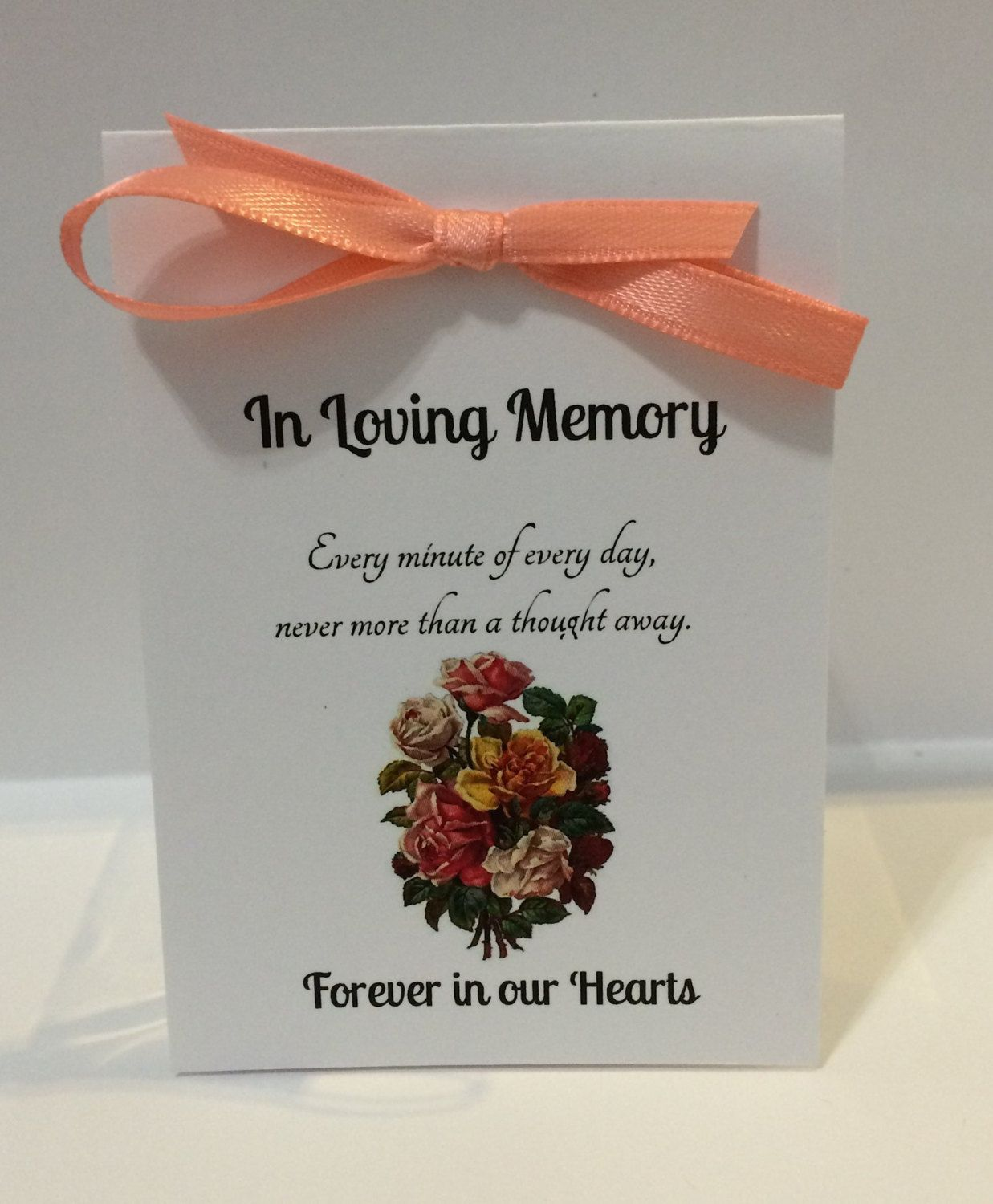 10 Forget Me Not Seed Packet Favours By Wedding In A: Funeral Favors, In Loving Memory Seed Packet Card Memorial