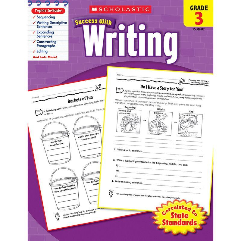 SCHOLASTIC SUCCESS WRITING GR 3