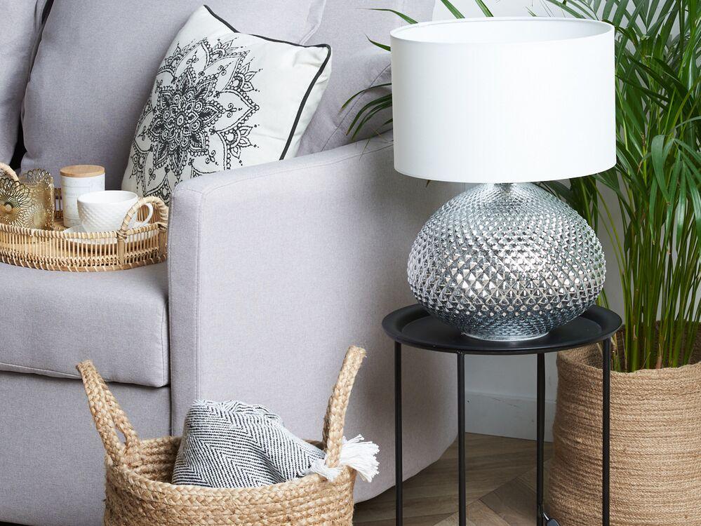 Metal Table Lamp Silver Madon In 2020 Glam Living Room Metal Table Lamps Room Lamp