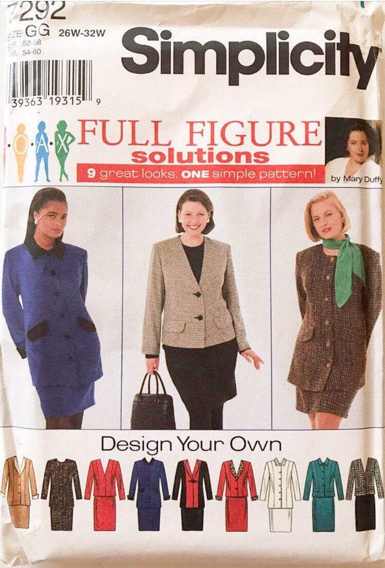 Plus Size Women S Suit Pattern Suit Pattern Suit Sewing
