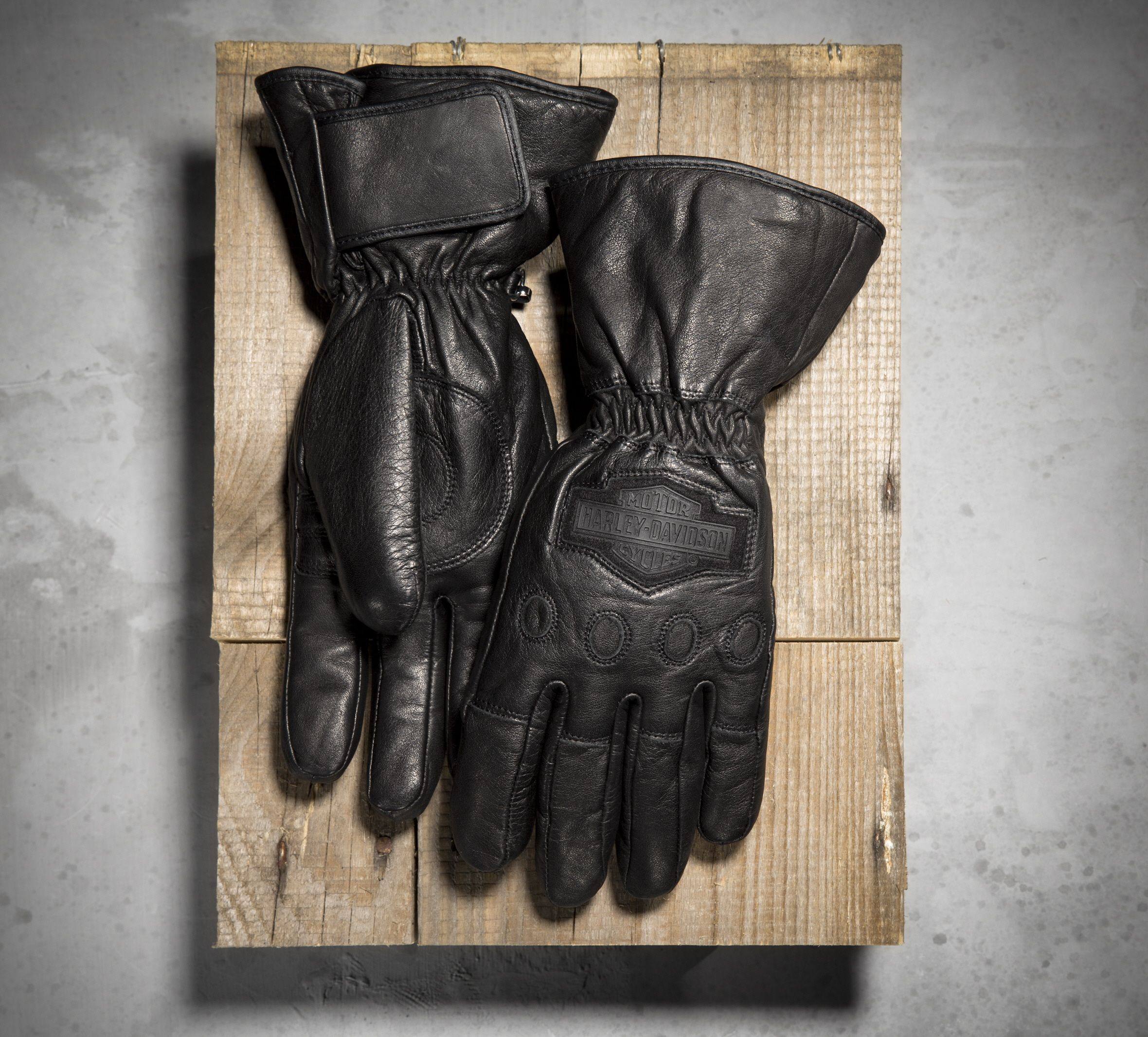 Leather gauntlet driving gloves - Harley Davidson Men S Windshielder Gauntlet Gloves