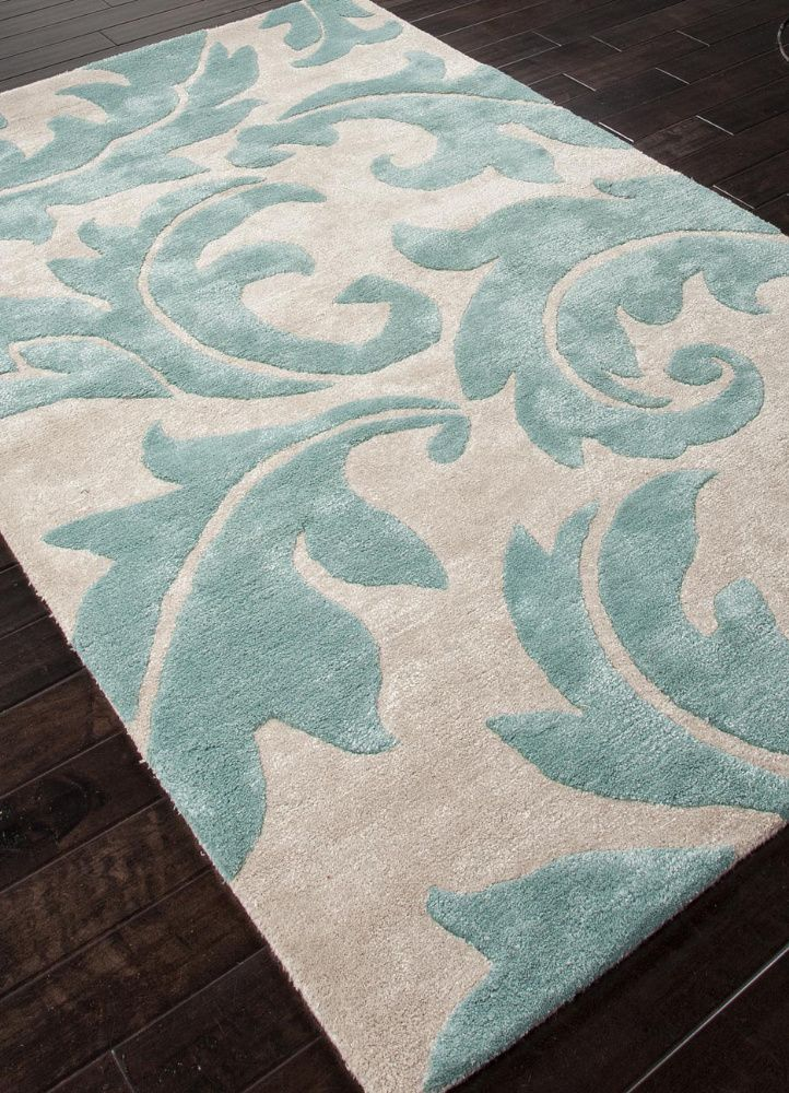 Addison And Banks Hand Tufted Abr0103 Antique White Light Turquoise Area Rug Turquoise Rug Tufted Rug Floral Area Rugs
