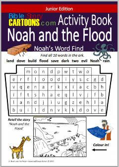 Free 4 page Activity Book about Noah & the Flood (PDF download