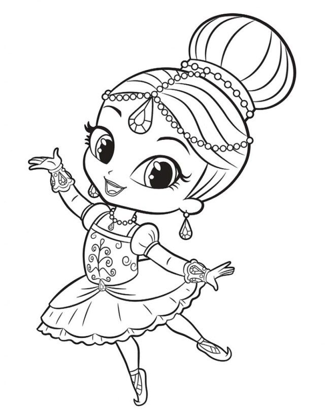 21 Marvelous Picture Of Shimmer And Shine Coloring Pages