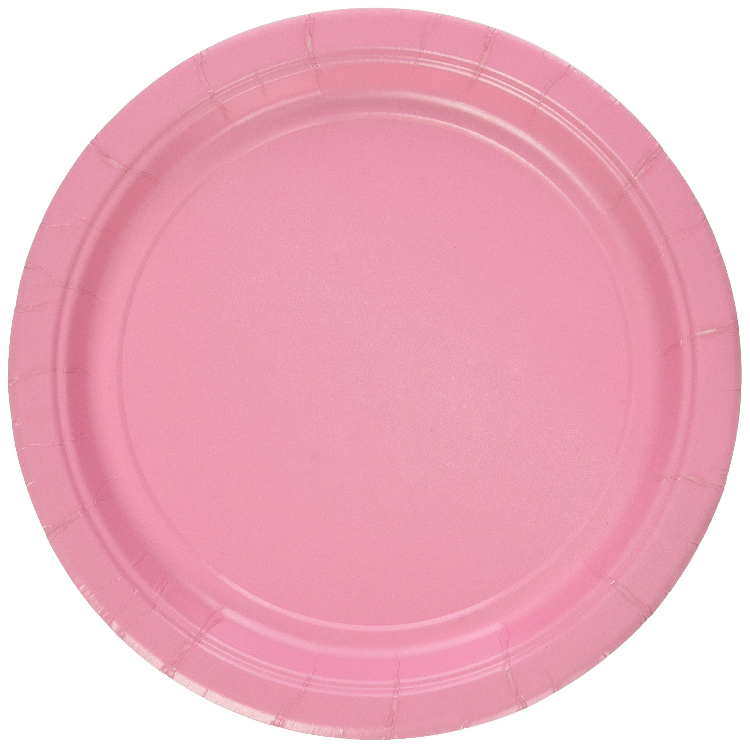 Amscan New Pink Paper Plate Big Party Pack 50 Ct Ad Paper