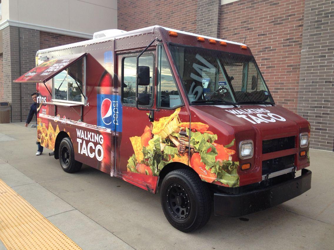 Walking Taco Food Truck At The Woodstock Walmart Last Week It S