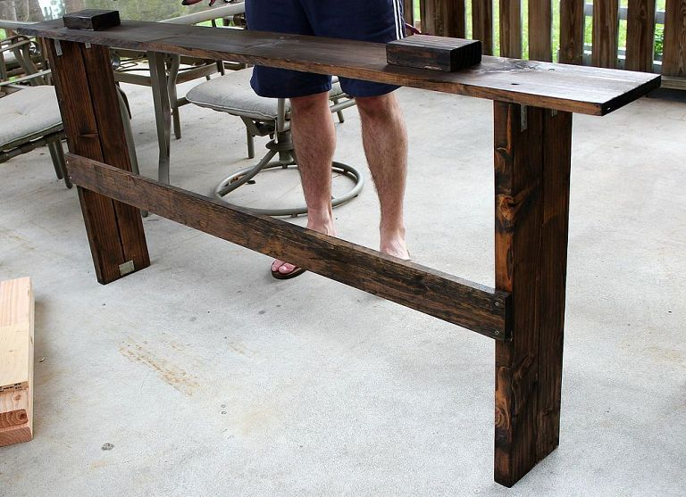 Simple Diy Sofa Table Tutorial Diy Sofa Table Diy Sofa Sofa