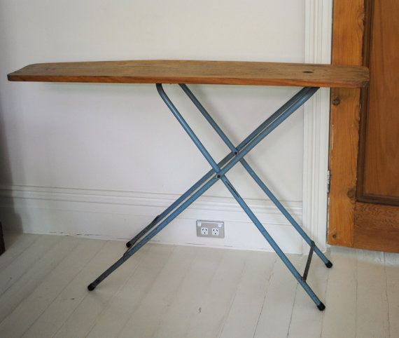 Vintage wooden ironing board - hall table