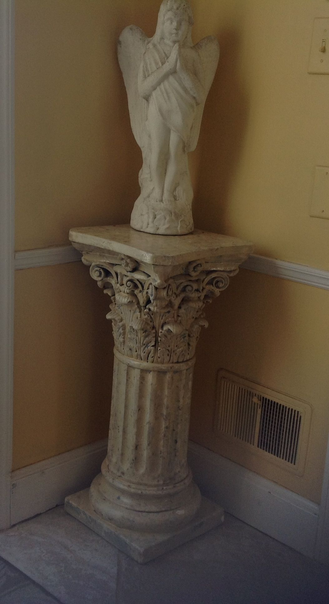 pedestals building sale furniture f pair of details unknown style pedestal id plaster for with garden columns gothic
