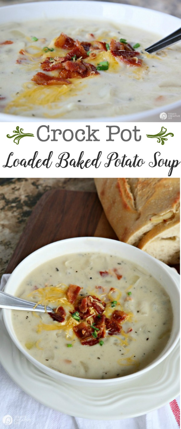 Photo of Crock Pot Potato Soup Recipe