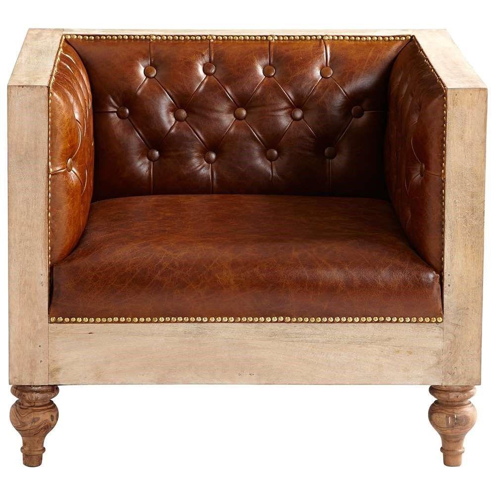 Cyan Design 07007 Magnus Chair In Burnt White