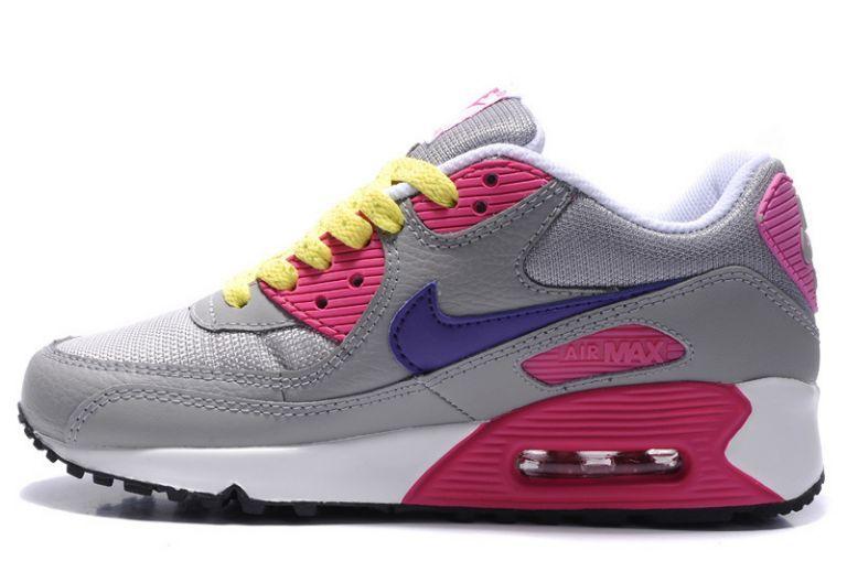 nike air max Goadome ii - Authentique Nike Air Max 90 Essential Cool Gris Pourpre Rose Volt ...
