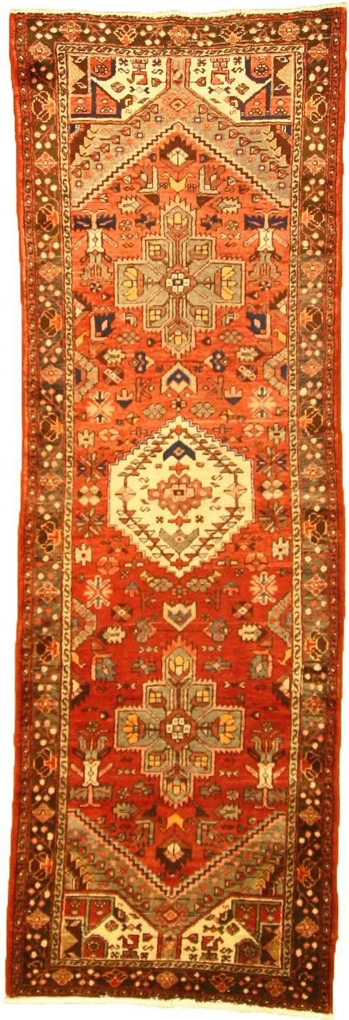 Red 3' 3 x 9' 11 Hamedan Rug   Persian Rugs   eSaleRugs