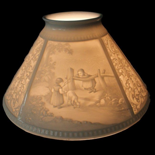 Children Playing Lithophane Lampshade on   Children play ...