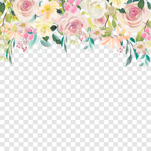 Floral Drop Watercolor Floral Clipart Floral Flower Png And Vector With Transparent Background For Free Download Floral Wreath Watercolor Floral Border Design Vector Flowers