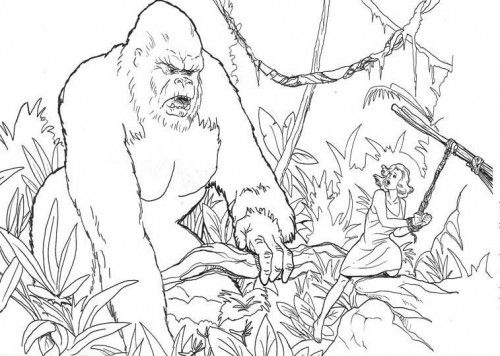 King Kong Coloring Pages Tree Coloring Page Coloring Pages King Kong
