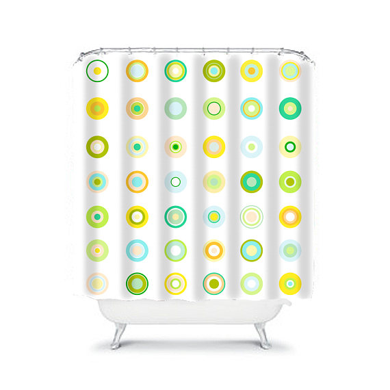 Abstract shower curtain extra long shower colorful shower green ...
