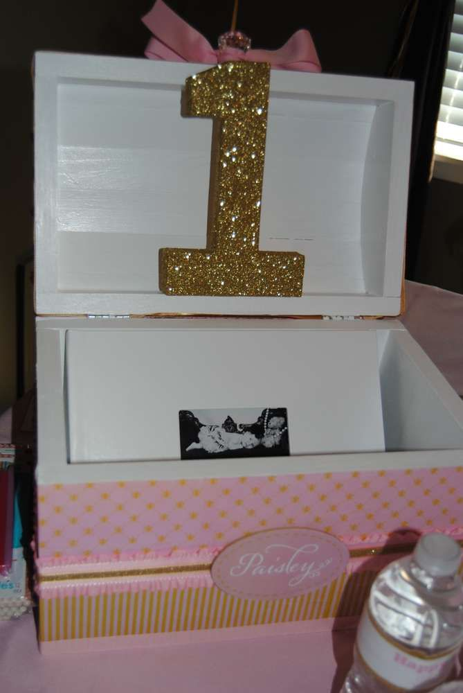 Gold & Pink Birthday Party Ideas | Photo 5 of 29 | Catch My Party