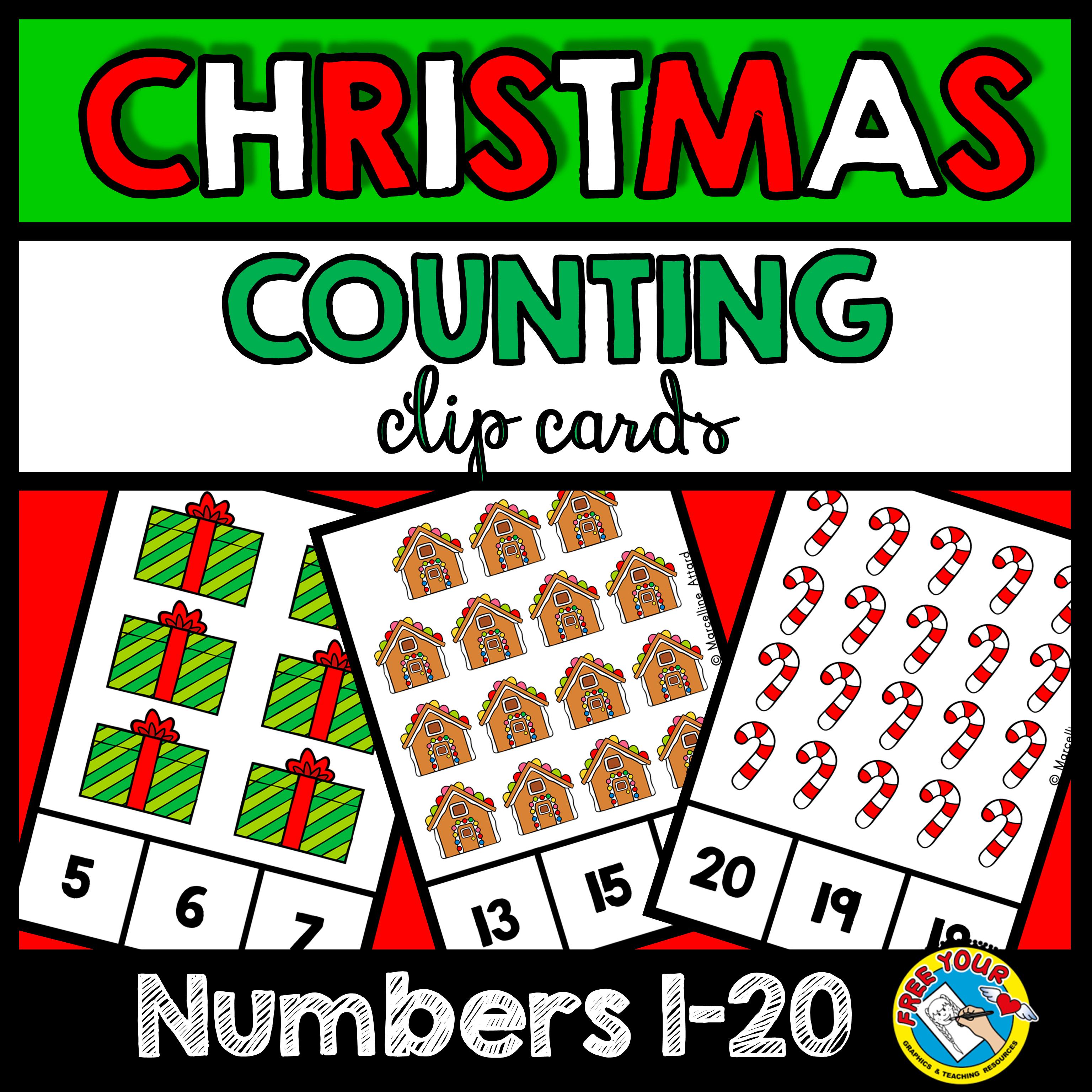 Counting To 20 Christmas Activity Kindergarten December