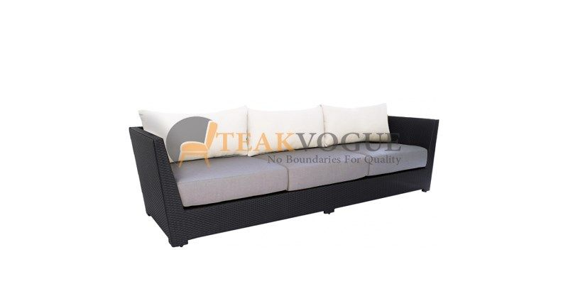 Aurora Wicker 3 Seater Sofa Size D 35 4 90 Cm X L 90 5 230 Cm X H 30 76 5 Cm Materials Synthetic Wicker A Grade Alumin In 2020 Sofa 3 Seater Sofa Furniture