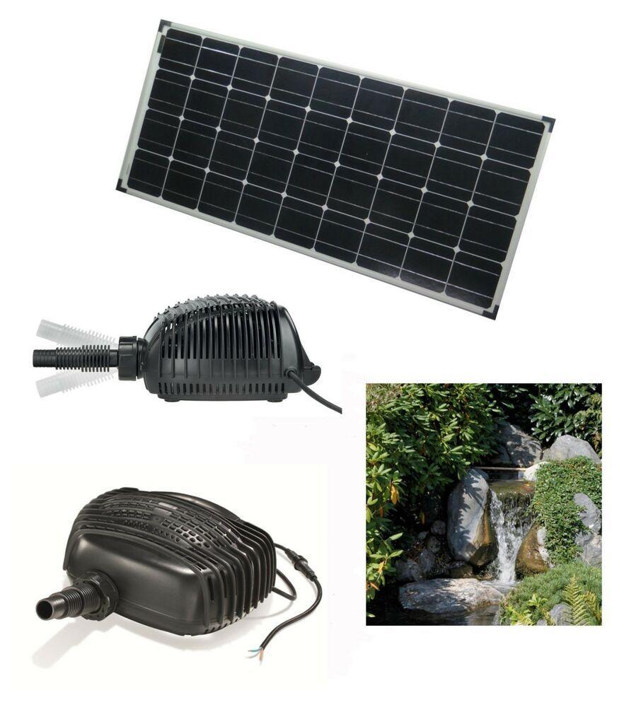 Ebay Sponsored 100 W Solar Bachlauf Tauch Pumpe Teichpumpe
