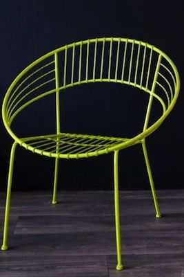 1950s-style Inside and Out chair from Rockett St George in Lime