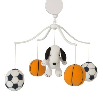Bedtime Originals Snoopy Sports Musical Mobile