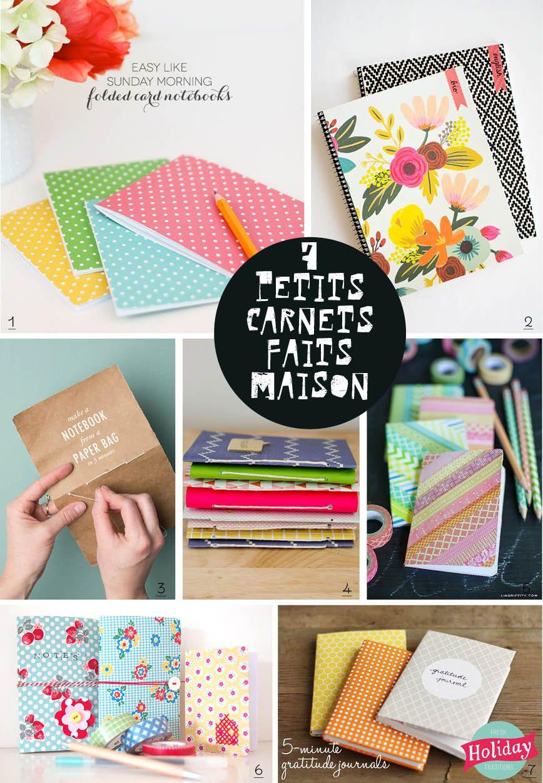 Comment Faire Un Calendrier Fait Maison 7 petits carnets faits maison | calepin fait à la main