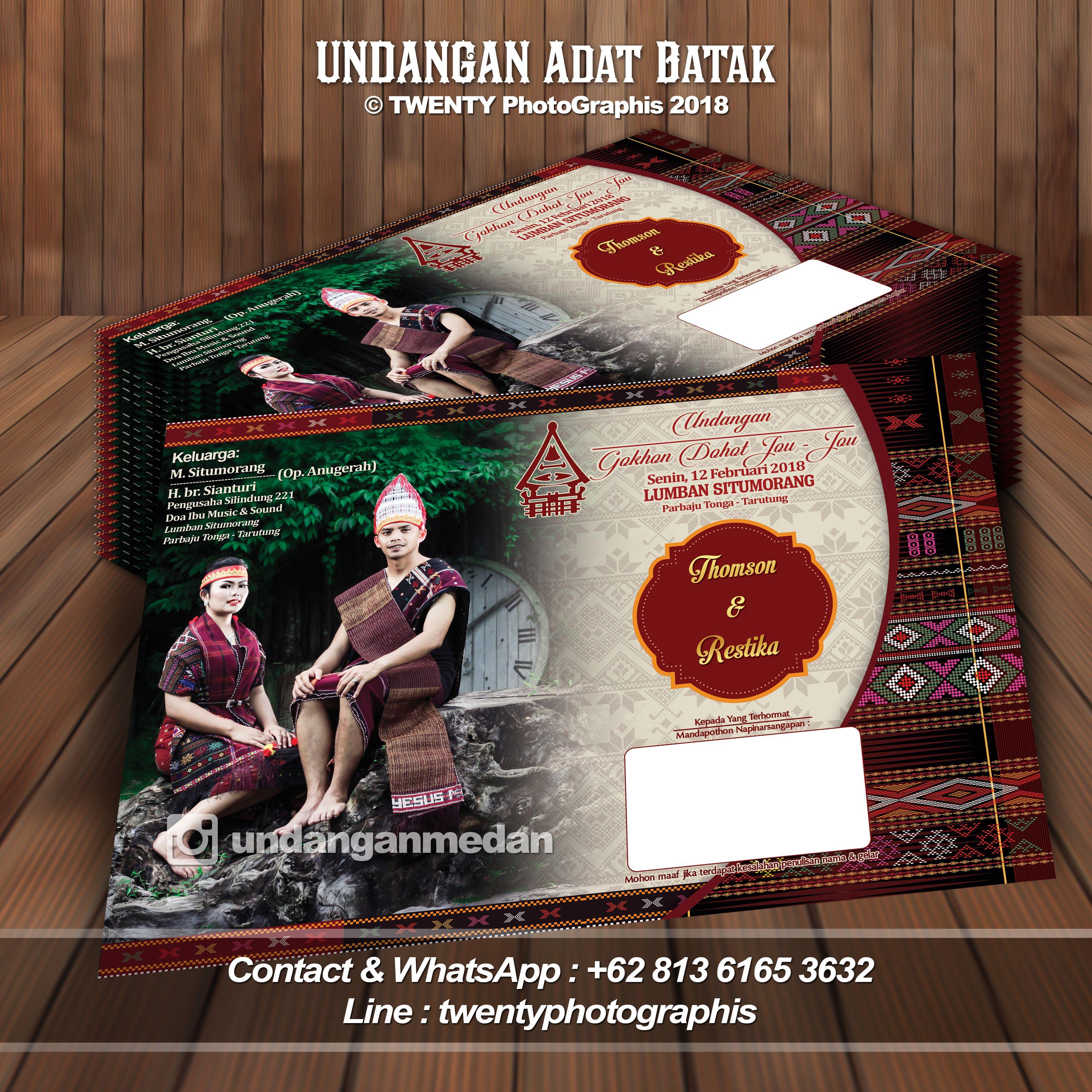 Undangan Adat Batak Pinterest Photo And Jawa Medan Video
