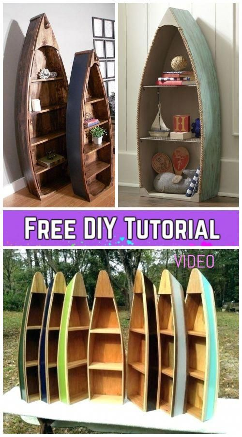 DIY Pallet Wood Boat Bookshelf Tutorial - Video ...