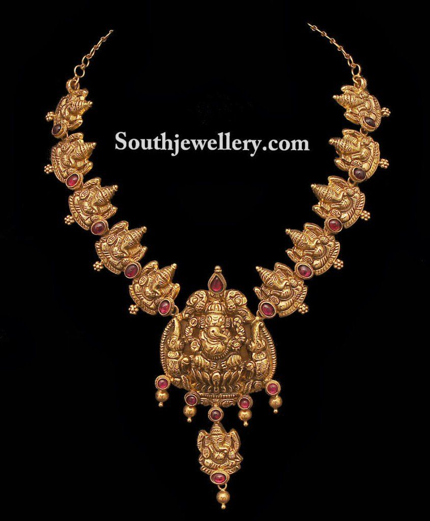 Ganeshnecklacexg pixels indian jewellery