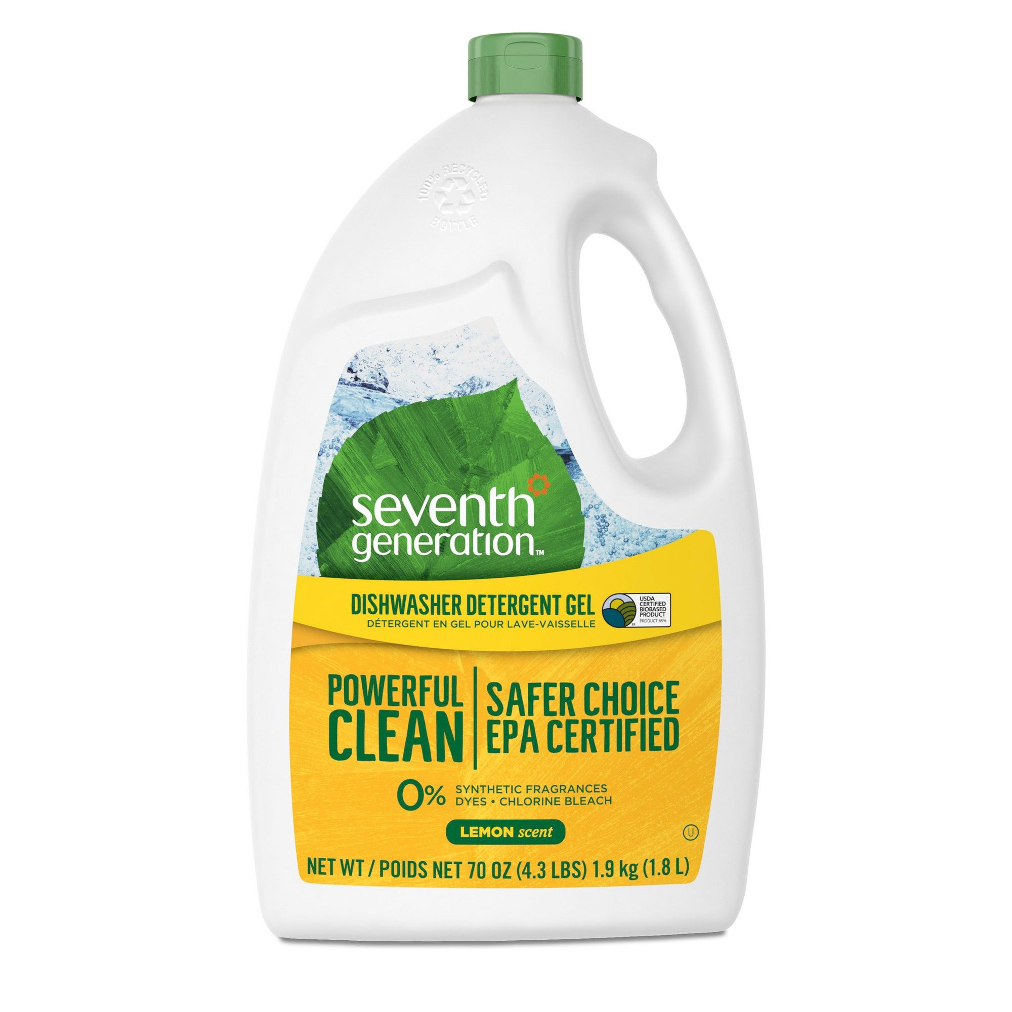 Seventh Generation Lemon Natural Dishwasher Detergent Gel 70oz Natural Dishwasher Detergent Dishwasher Detergent Cleaning