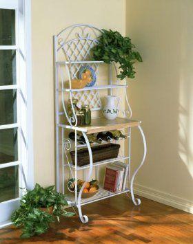 Amazon Com Sei 68 Inch Tall Trellis Baker S Rack Home Kitchen