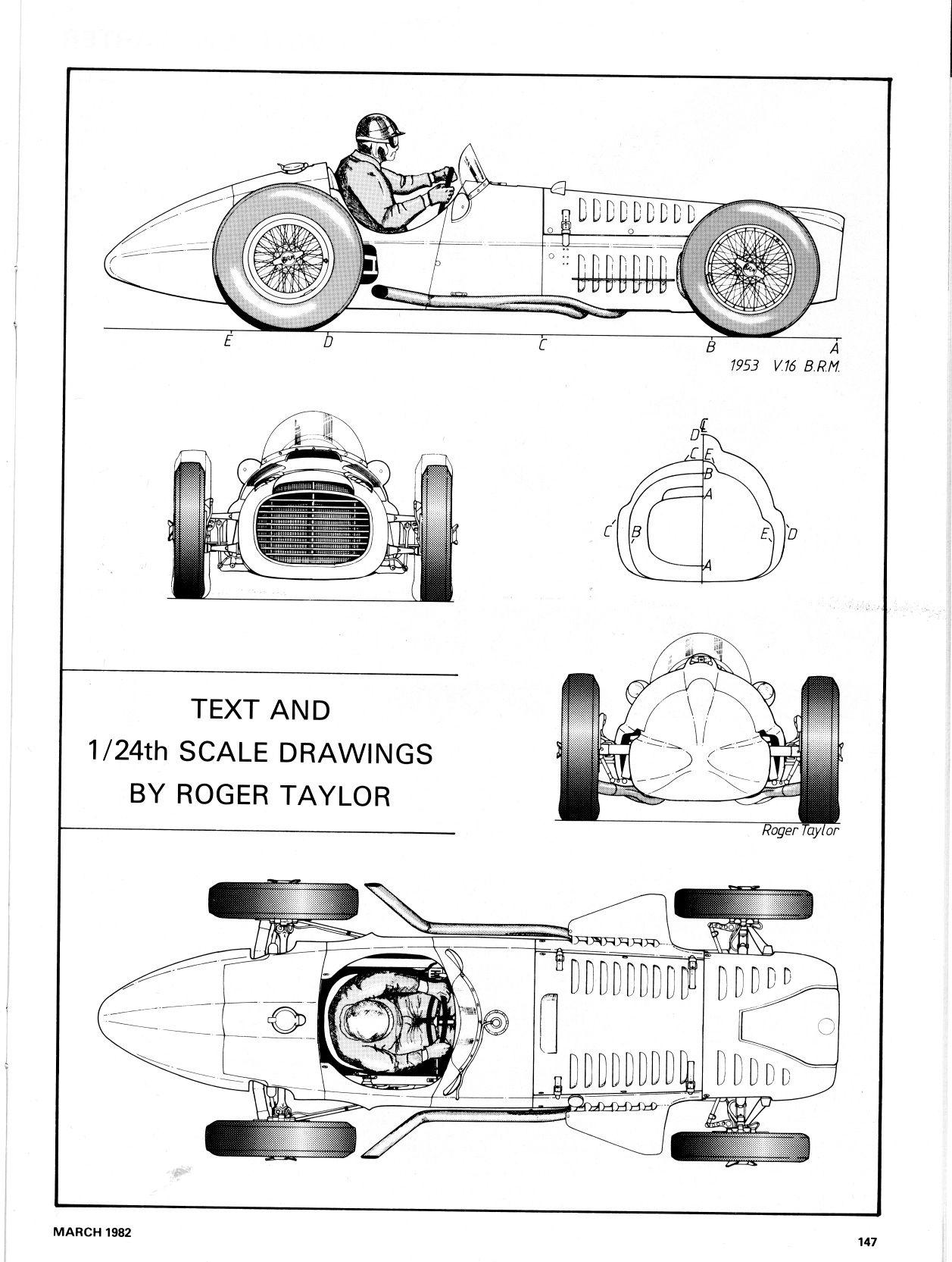BRM V16 1953 F 1 Blueprint Pinterest