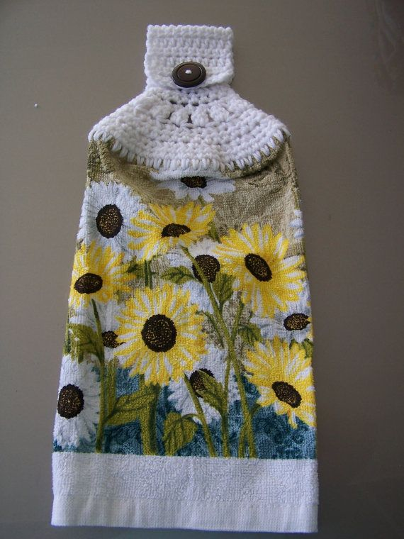 Hanging Dish Towel, Hanging Kitchen Towel, Crochet Top Towel, Housewarming  Giftu2026
