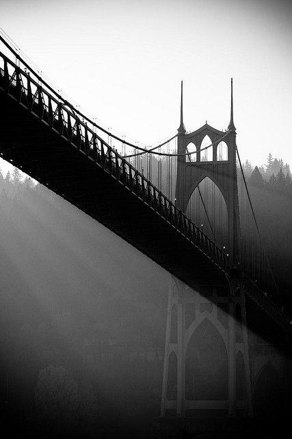 St. Johns Bridge, Portland, Oregon   Photo by Patrick Wilson   Flickr