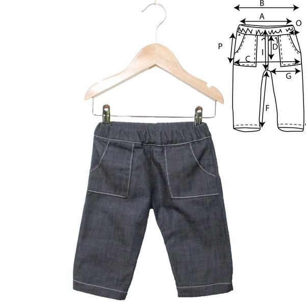 2a24d449cdc2d Patron de couture Jean confort mixte NEWPORT PDF 6-24M – ikatee