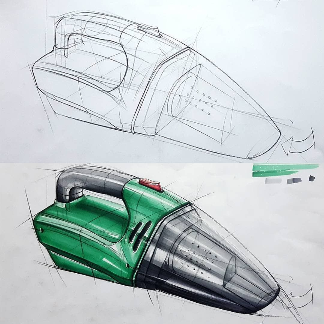 #industrialdesign Product Design & Sketches. on Instagram: Amazing sketch by @berkay.gursoy  #copic #marker #digitalart #behance #portfolio #idea #conceptcar #conceptdesign #cardesign #carsketch