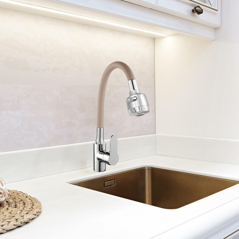 Yoka Tuga Bge Bateria Kuchenna Zlewozmywakowa Elastyczna Bezowa Home Decor Sink Decor