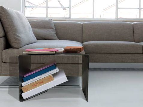 Contemporary Style, Steel Side Coffee Table with storage Clean