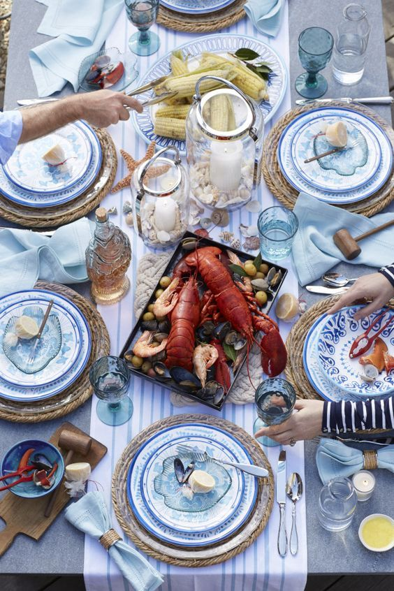 Seafood Dinner Party Menu Ideas Part - 40: How To Host A Seafood Date Night Dinner Party With Decor And Recipes  Inspired By The