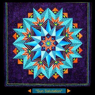 """""""sun salutation""""  star quilt patterns kaleidoscope quilt"""