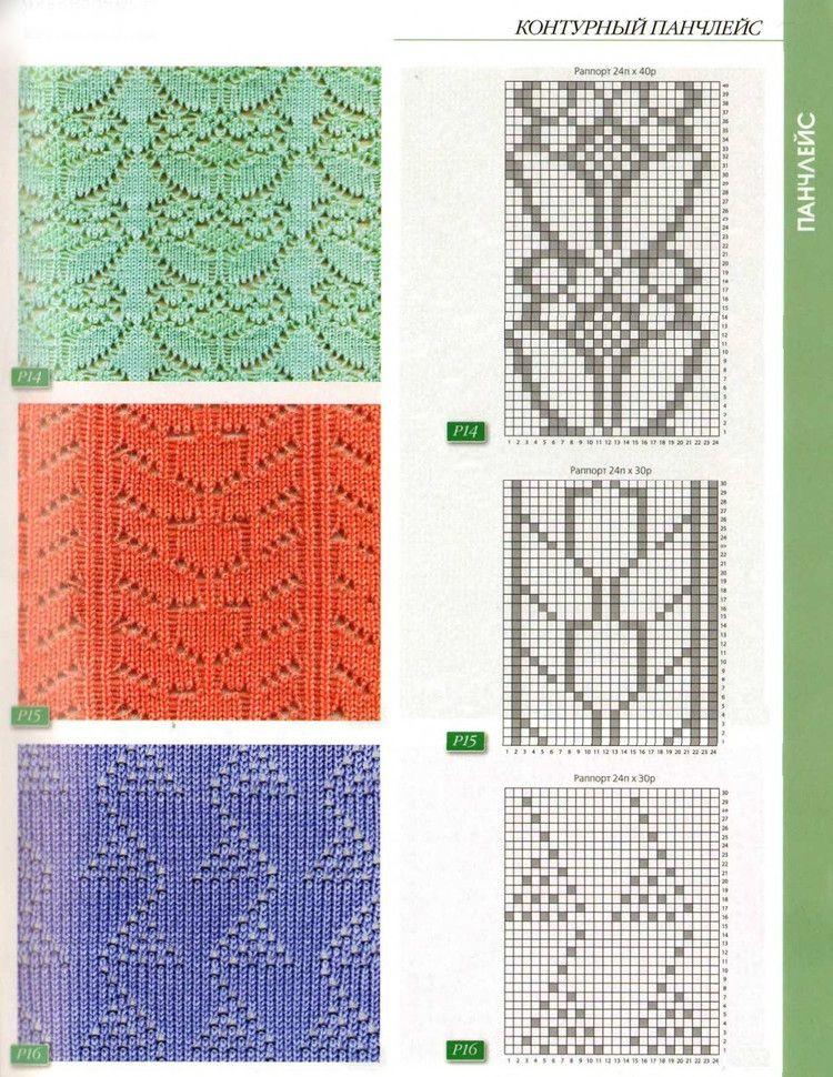 punch lace | Moda-Punto-Tricot-patrones | Pinterest | Strickmaschine ...