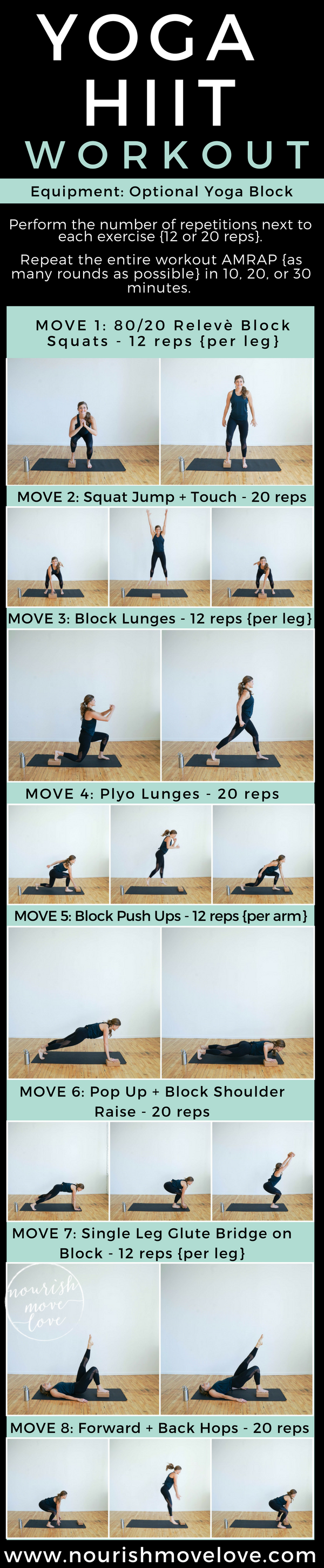 Home Workout: a Yoga-meets-HIIT: 15 minutes total body