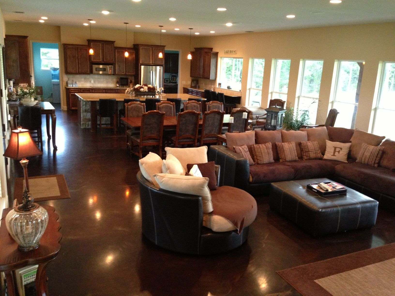 Pin By Sherril Frank On Favorite Places Spaces Open Concept Kitchen Living Room Open Concept Living Room Living Room Floor Plans