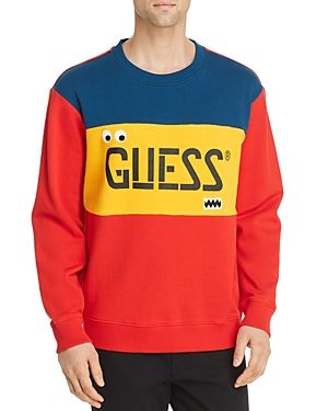 21348bfd0579 GUESS COLOR-BLOCK LOGO SWEATSHIRT. #guess #cloth | Guess in 2019 ...