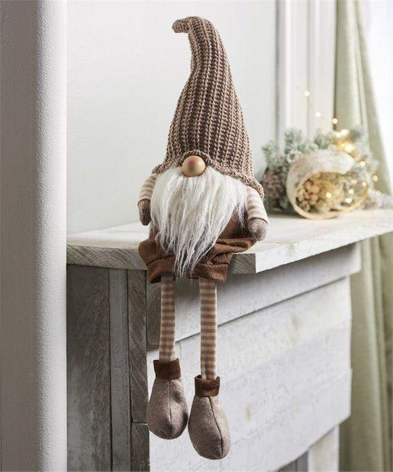 27 groß Urban Gnome - Santa Gnome Shelf Sitter - süße Weihnachtsdekoration - Weihnachtsgnome - Holiday Gnome - Bücherregal Dekor - Geschenk für Sie #christmasgnomes