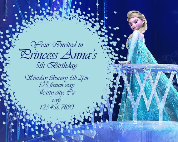 photograph about Frozen Birthday Card Printable referred to as Frozen birthday invitation - Disneys Frozen - Disney